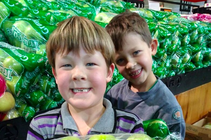 Buks Nel's grandchildren Jack Botha (front) and brother Jesse snapped in the Watercrest Mall Spar in Durban North, made all of us smile.