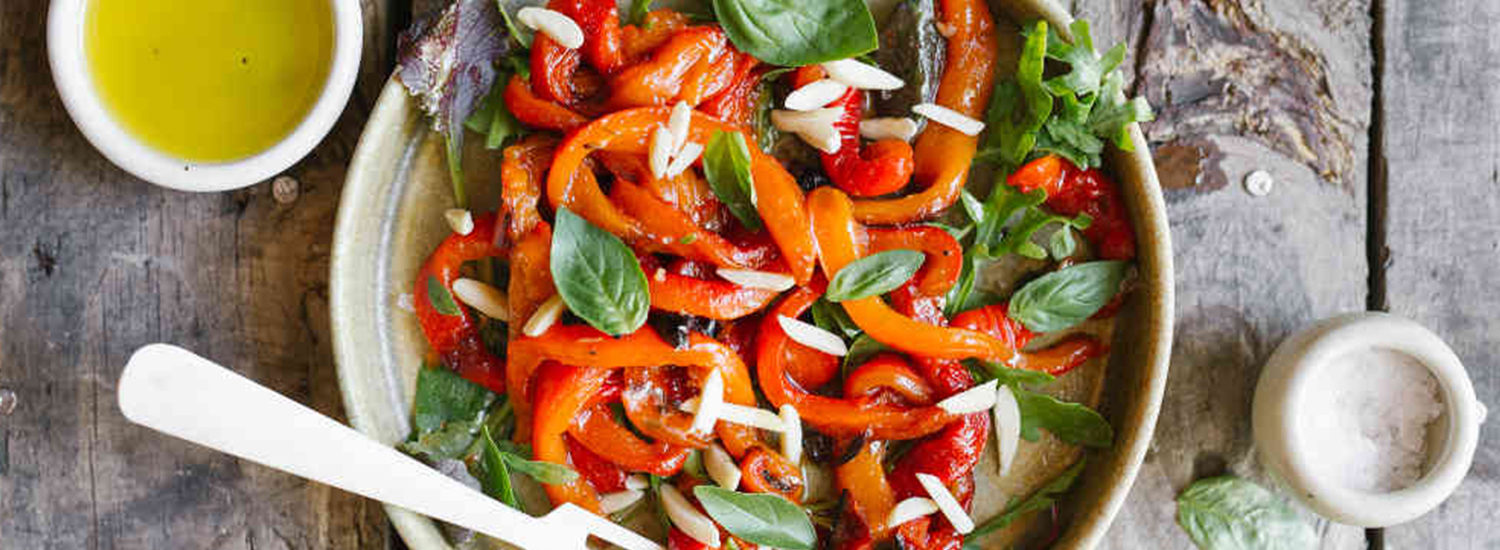 Roasted Red Peppers with Apple Cider Vinaigrette